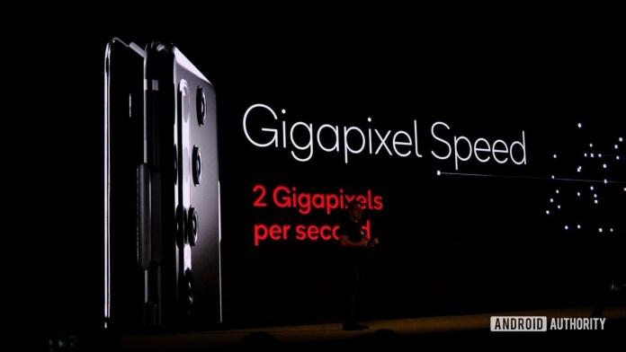Diapositiva Snapdragon 865 de dos gigapíxeles por segundo