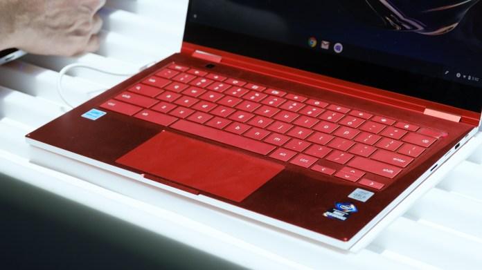 Samsung Galaxy Chromebook keyboard