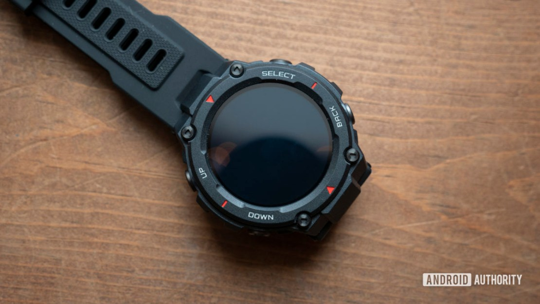 huami amazfit t rex smartwatch display off on table 1