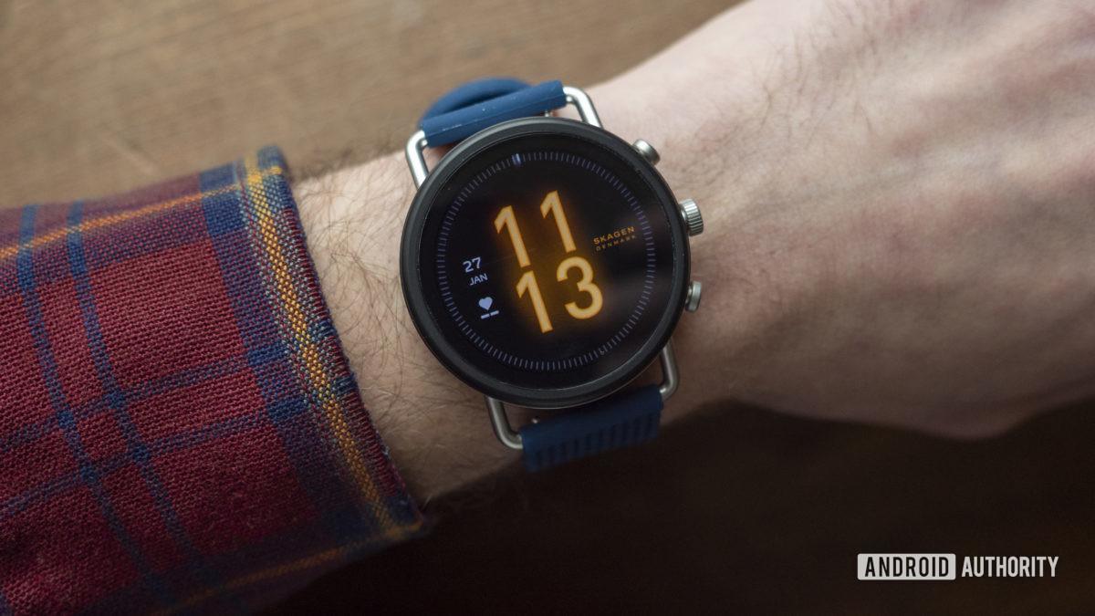 skagen falster 3 revisão mostrador do relógio no pulso 2