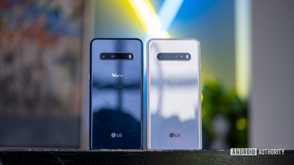 LG V60 both colors from the back 1
