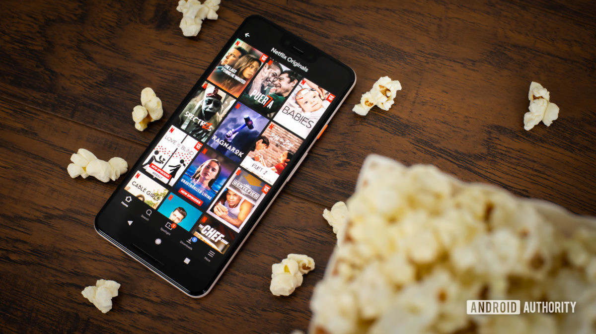 Netflix Originals next to popcorn stock photo 2