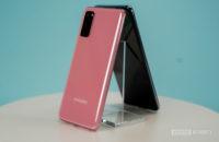Samsung Galaxy S20 em rosa