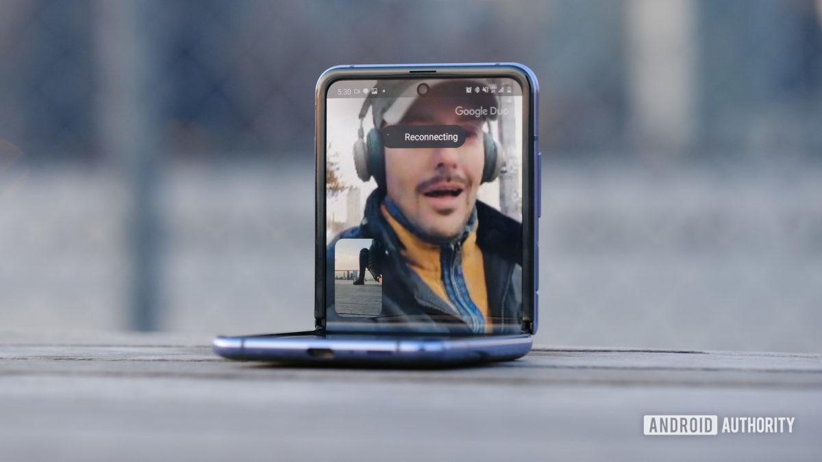 Samsung Galaxy Z Flip Duo call верхняя половина