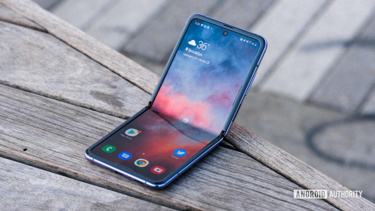 Samsung Galaxy Z флип четверть раза