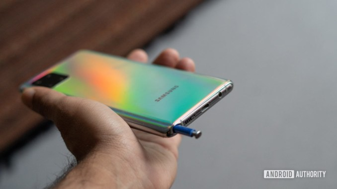 Samsung Note 10 Lite S pen popping out