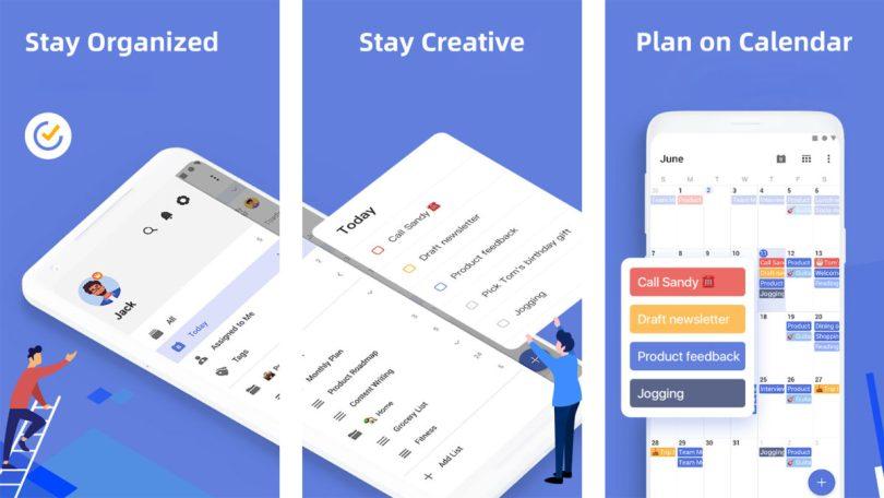 TickTick screenshot 2021