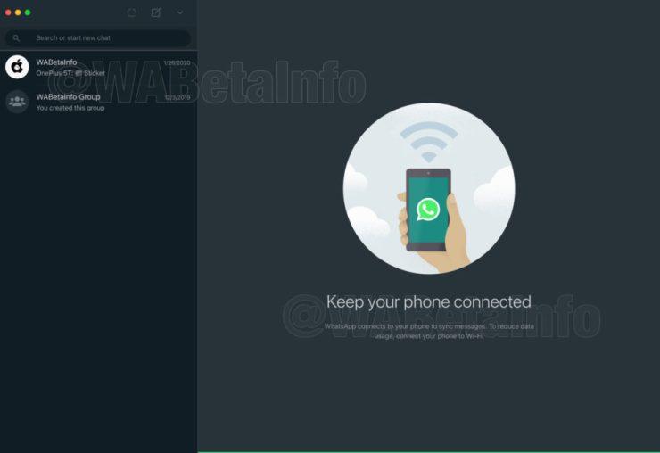 WhatsApp Web and desktop are getting a dark mode.