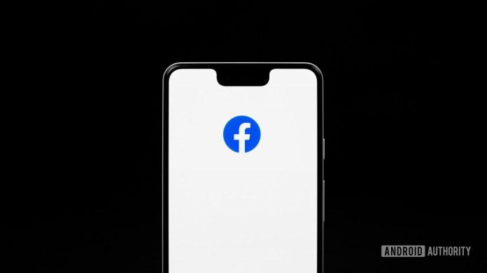 Facebook app on phone 2
