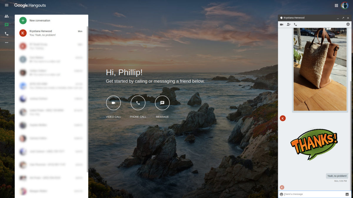 Google Hangouts онлайн