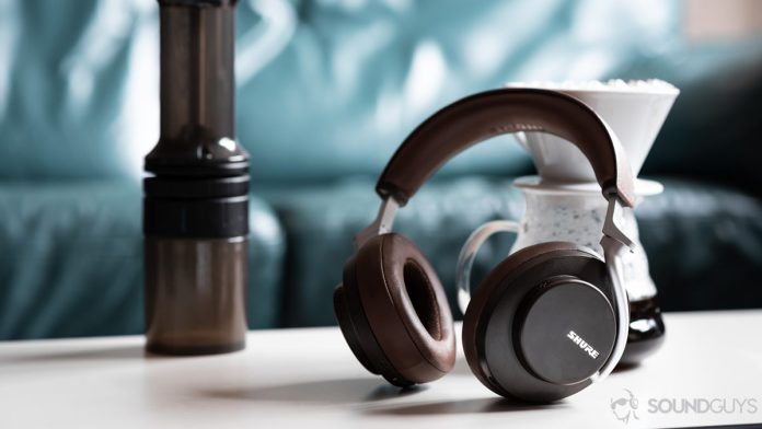 The Shure Aonic 50 noise cancelling headphones lifestyle