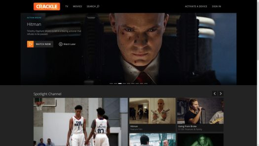Sony Crackle video streaming service
