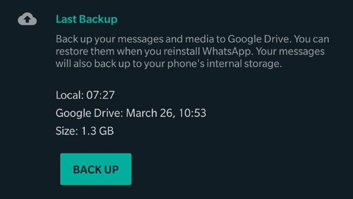 Как сделать резервную копию WhatsApp