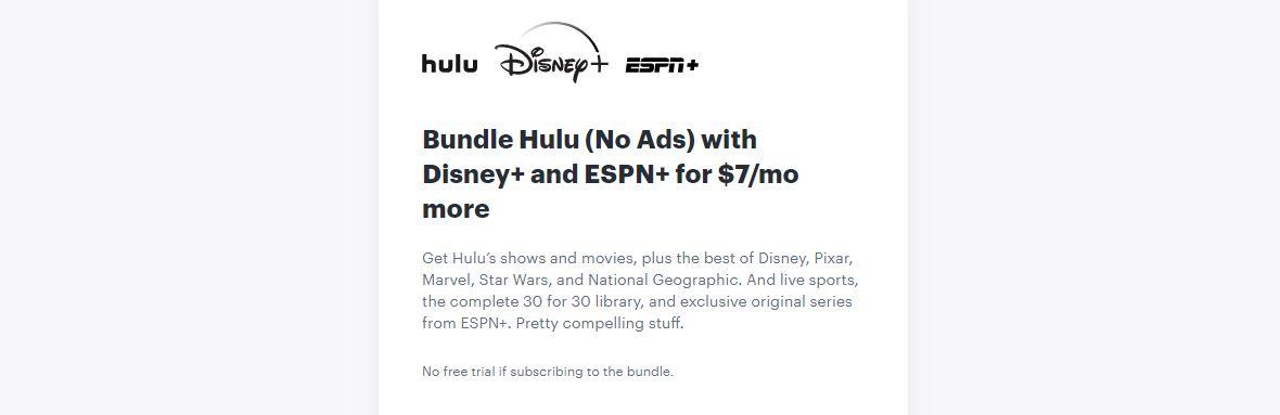 набор без рекламы дисней плюс hulu espn plus