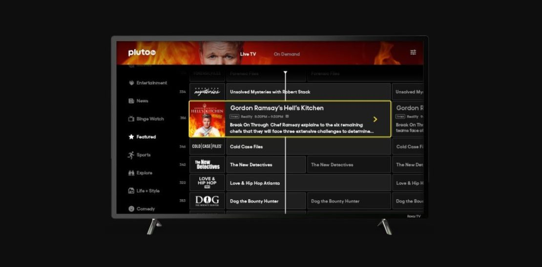pluto tv smart tv interface