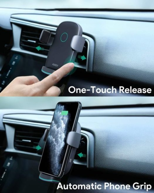 AUKEY wireless car charger 1
