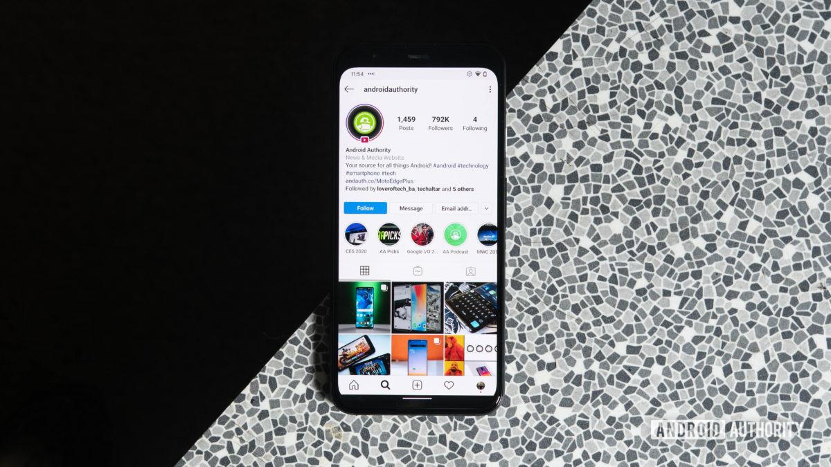 Страница Instagram для Android на Pixl