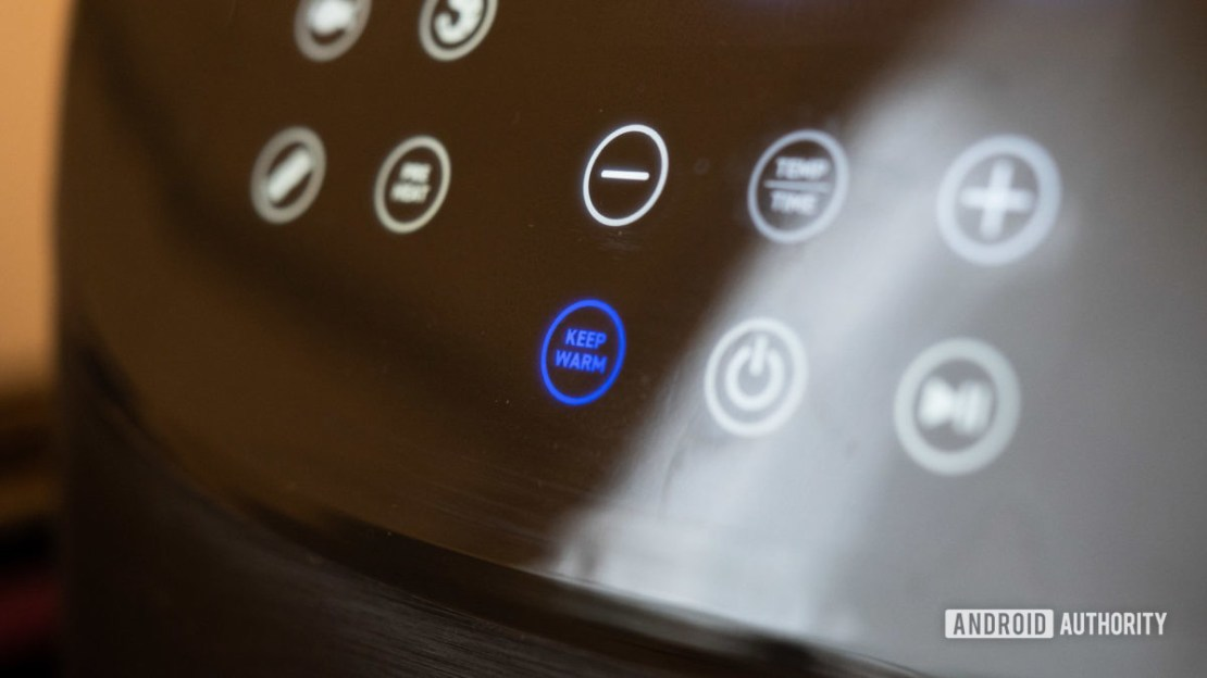 Cosori Smart Air Fryer button closeup