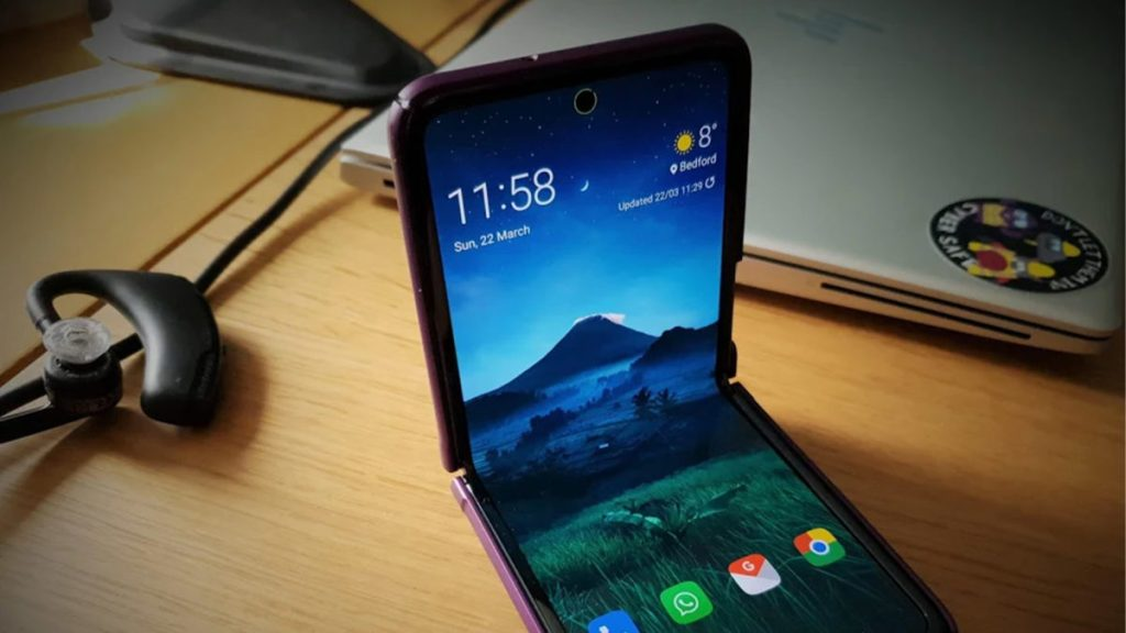 Скриншот энергетического кольца Galaxy Z Flip