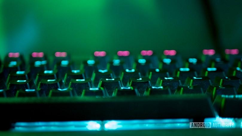 Home office lighting keyboard