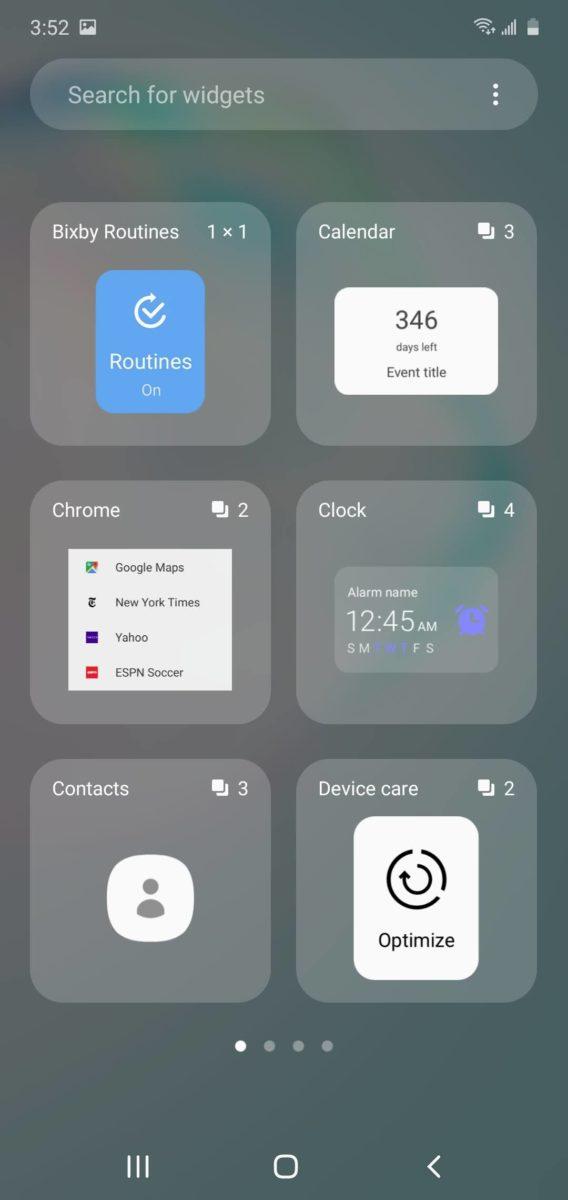 One UI Widgets