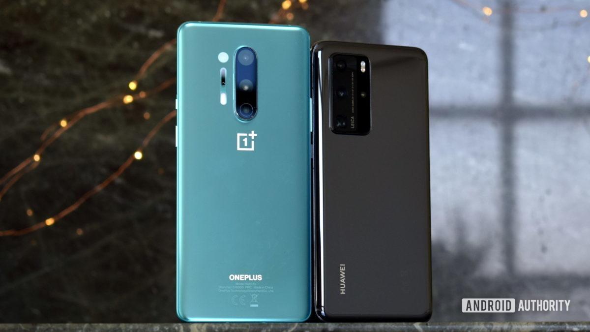 OnePlus 8 Pro против Huawei P40 Pro назад