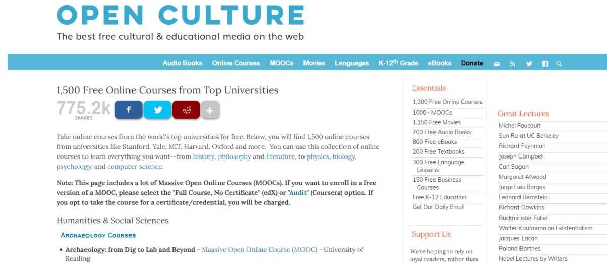 Открытые культурные курсы онлайн бесплатно