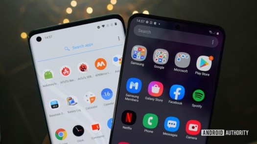 Android skins One UI and OxygenOS