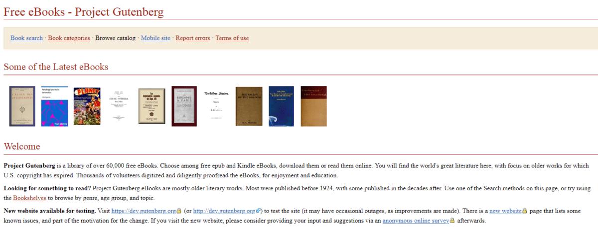 Project Gutenberg бесплатные онлайн учебные ресурсы