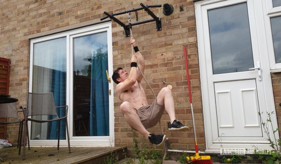 Rope Climbing in Home Gym