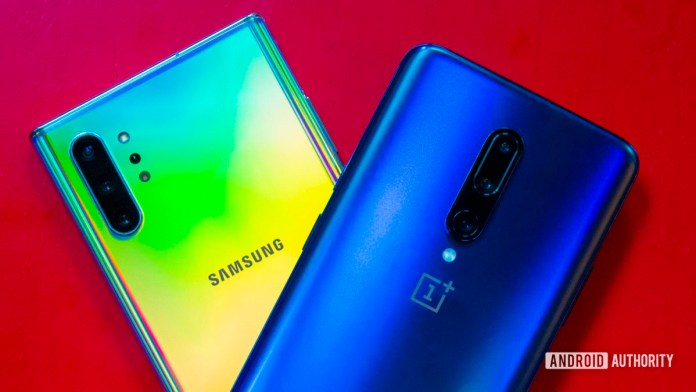 Samsung Galaxy Note 10 and OnePlus 7 Pro