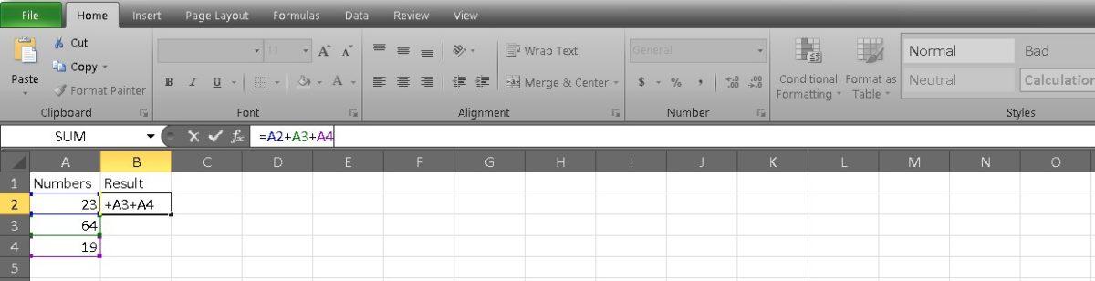 добавить ячейки в Excel 1