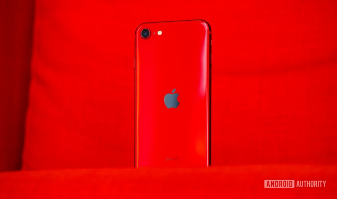 iPhone SE back slight angle