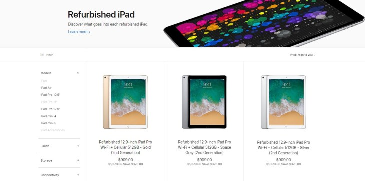 refurbished iPad