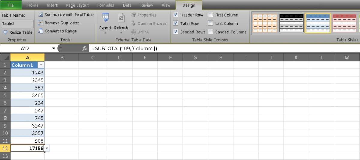 столбец сумм в Excel 8