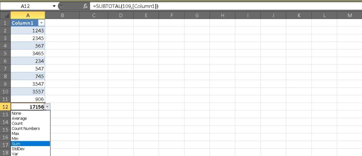 столбец сумм в Excel 9