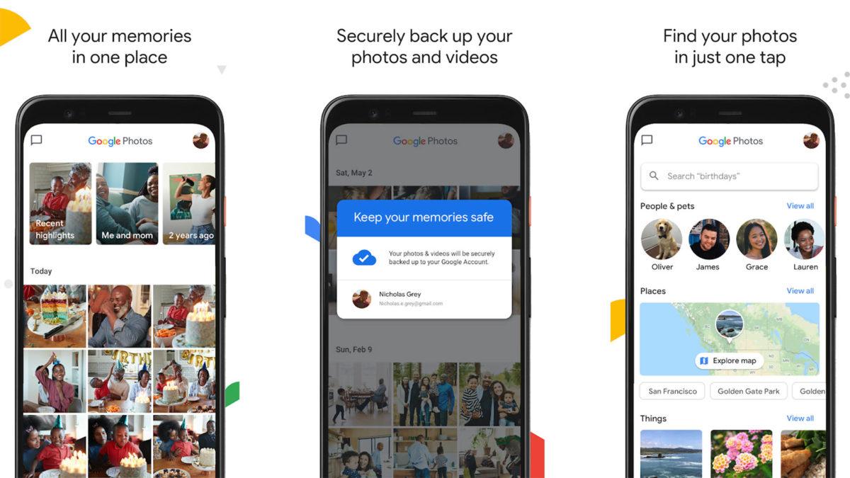 Captura de tela do Google Fotos 2020