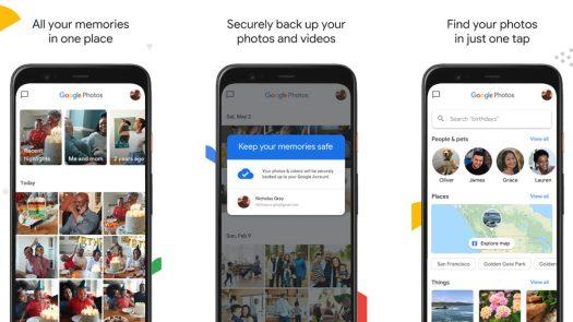 Google Photos screenshot 2020