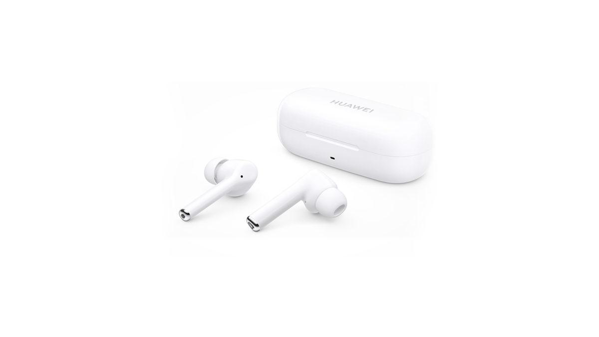 Huawei FreeBuds 3i истинный беспроводной шумоподавления наушники для зарядки чехол белый