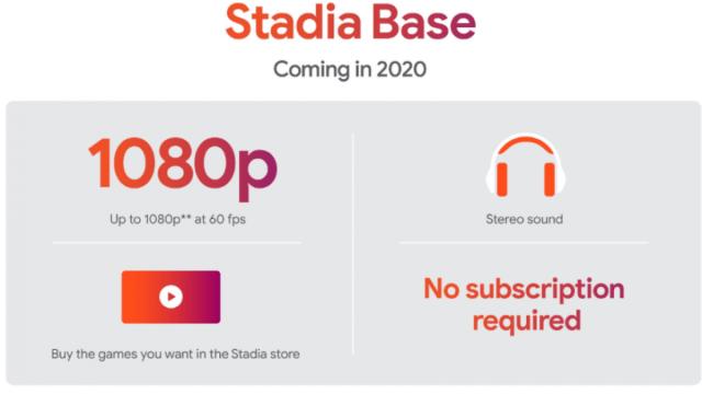 Stadia base