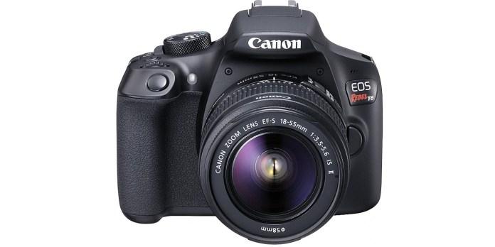 canon eos rebel t6 dslr on best cheap camera deals list.