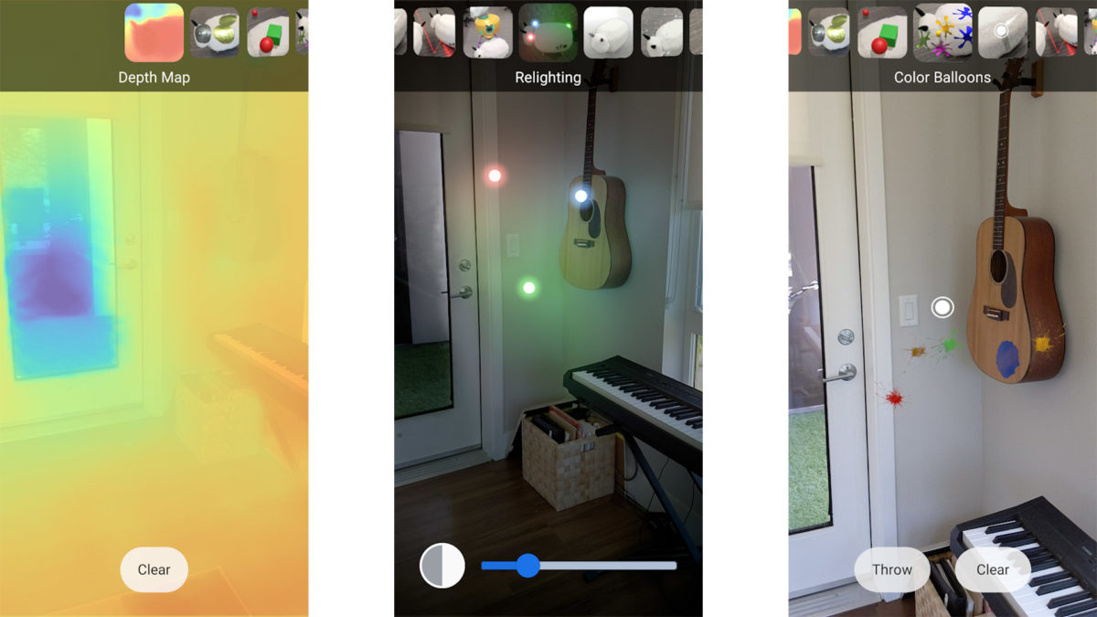 Скриншот ARCore Depth Lab