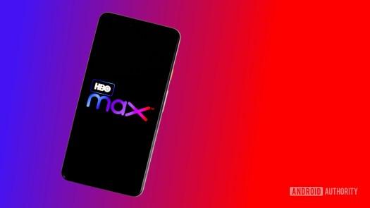 HBO Max logo on smartphone stock photo 1
