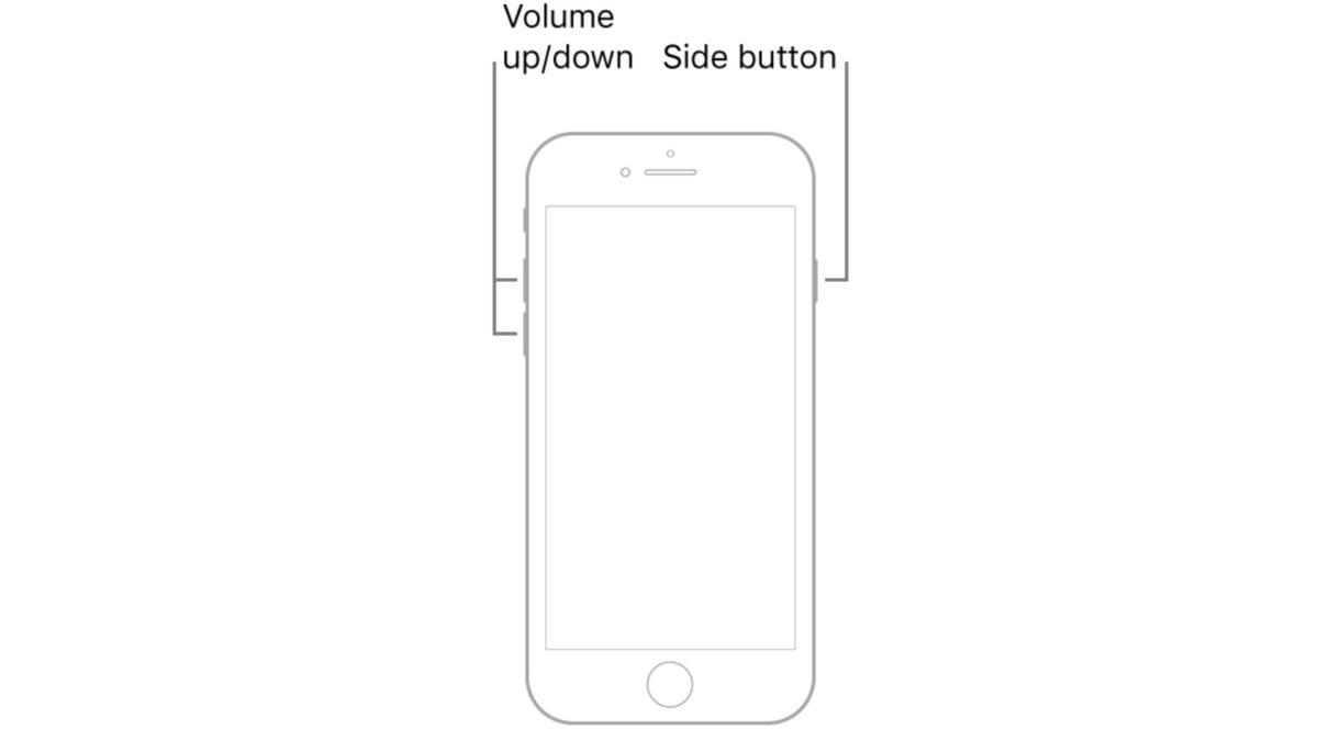 Аппаратный сброс iPhone SE