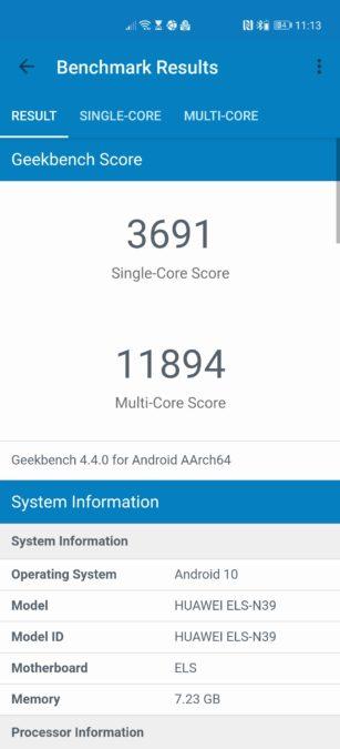 Huawei P40 Pro Plus Geekbench 4 балла