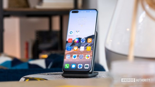 Huawei P40 Pro Plus on wireless charger