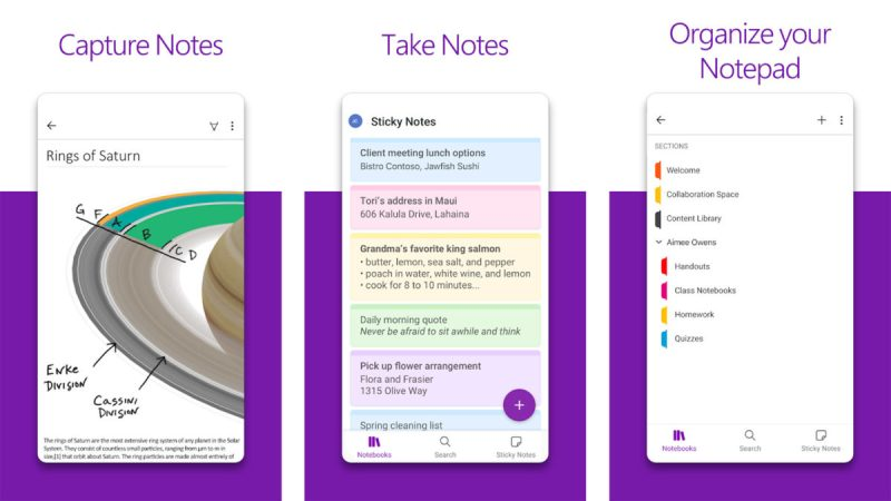 Microsoft OneNote screenshot 2021
