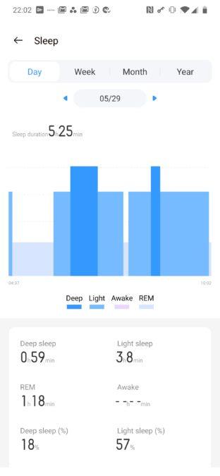 Realme Band отслеживание сна