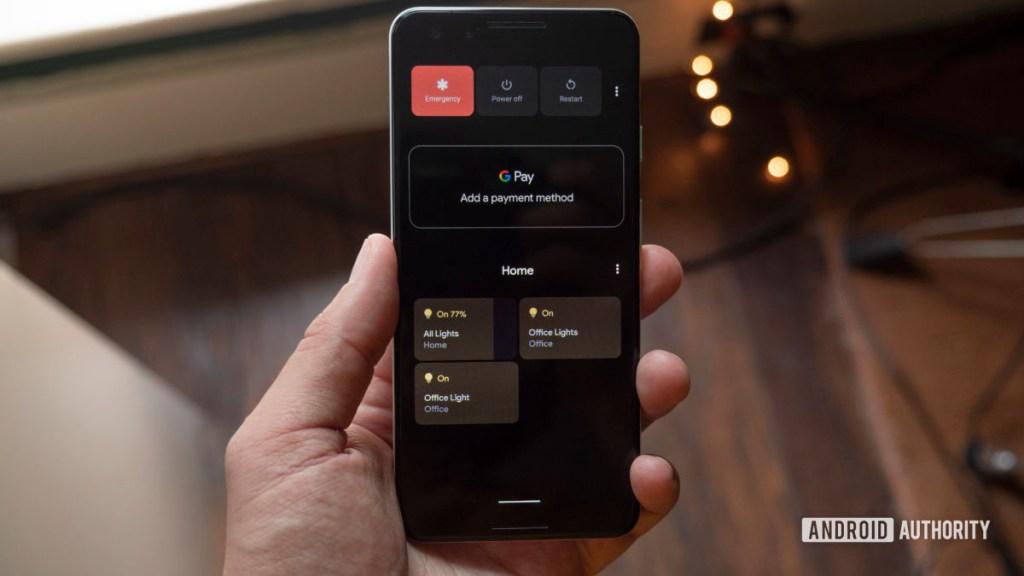 домашнее меню управления Android 11 бета