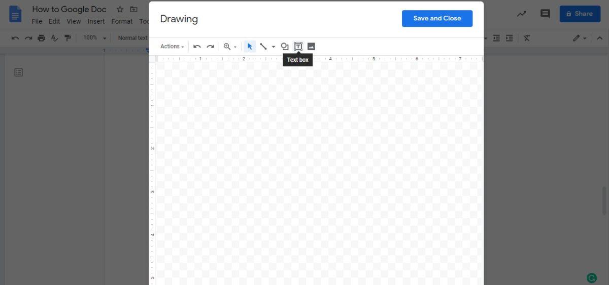 вставить текстовое поле google docs 2